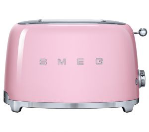 Smeg TSF01PKUK 50's Retro 2 Slice Toaster - Pink