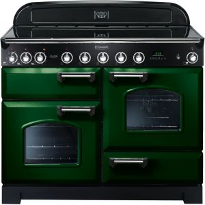 Rangemaster CDL110EIRG/C Classic Deluxe 110cm Electric Induction Range Cooker Racing Green/Chrome