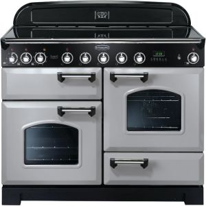 Rangemaster CDL110EIRP/C Classic Deluxe 110cm Electric Induction Range Cooker Royal Pearl/Chrome