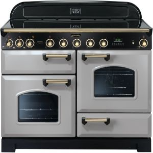 Rangemaster CDL110EIRP/B Classic Deluxe 110cm Electric Induction Range Cooker Royal Pearl/Brass