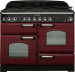 Rangemaster CDL110DFFCY/C Classic Deluxe Dual Fuel Range Cooker 110Cm Cranberry Chrome