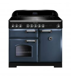 Rangemaster CDL100EISB/C Classic Deluxe 100cm Electric Induction Range Cooker Stone Blue/Chrome