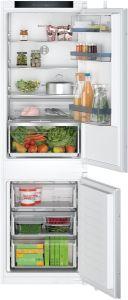Bosch KIN86VSE0G Built-in sliding hinge fridge-freezer with freezer at bottom