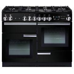 Rangemaster PROP110DFFGB/C Professional Plus Dual Fuel 110 Range Cooker Black Chrome