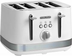 Morphy Richards 400000322 Illumination 4 Slice Toaster - White/Stainless Steel