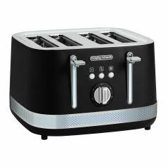 Morphy Richards 400000323 Illumination 4 Slice Toaster - Black/Stainless Steel