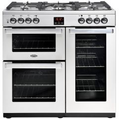 Belling Cookcentre 90DFTPROFSTA 90cm Dual Fuel Range Cooker-Professional - Stainless Steel