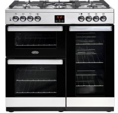 Belling 90DFTSTA Cookcentre 444444070 90cm Professional Range Cooker - Stainless Steel