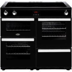 Belling Cookcentre 100EIBLK 100cm Electric Induction Range Cooker - Black