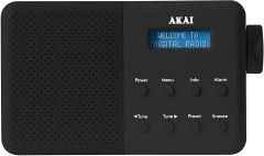 Akai A61041B Portable DAB Radio Mains And Battery Powered - Black