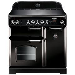 Rangemaster CLA90ECBL/C  Classic 90 Electric Range Cooker, Black