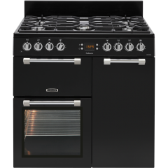 LEISURE CK90F232K 90cm Cookmaster Dual Fuel Range Cooker-Black