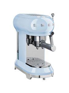 Smeg ECF01PBUK Coffee Machine Pastel Blue