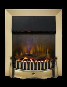 Dimplex BMR20BR Braemar Brass Optiflame 3D Electric Inset Fire