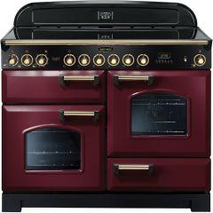 Rangemaster CDL110ECCY/B Classic Deluxe 110cm Electric Ceramic Range Cooker Cranberry/Brass