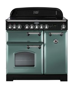 Rangemaster CDL90EIMG/C Classic Deluxe 90cm Induction Range Cooker - Mineral Green