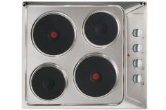 Nordmende HE62IX Solid Plate Electric Hob-Stainless Steel