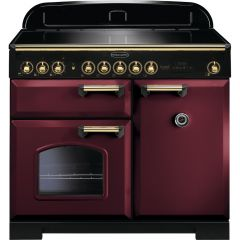 Rangemaster CDL100EICY/B Classic Deluxe 100 Electric Induction Cranberry Brass