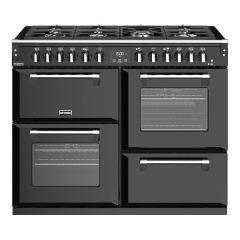Stoves Richmond Deluxe RCHDXS1100DFBK 110cm Dual Fuel Range Cooker - Black