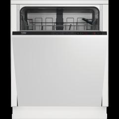 Beko DIN15322 Fully Integrated Standard Dishwasher - Black Control Panel