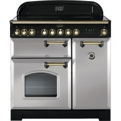 Rangemaster CDL90EIRP/B Classic Deluxe 90cm Electric Induction Range Cooker Royal Pearl/Brass