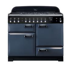 Rangemaster ELA110DFFSB/ Elan Deluxe 110cm Dual Fuel Range Cooker-Stone Blue