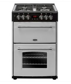Belling FH60DFTSIL 400000220 60cm Dual Fuel Cooker - Silver