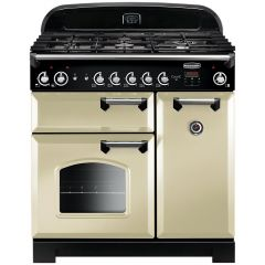 Rangemaster CLA90NGFCR/C Classic 90 Gas Range Cooker, Cream