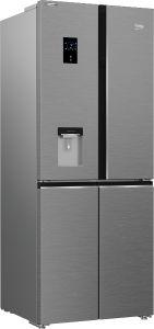 Beko GNE480EC3DVX Freestanding American Style Fridge Freezer Harvestfresh™ Stainless Steel