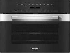 Miele H7240BM Pureline Combination Compact Microwave - Clean Steel