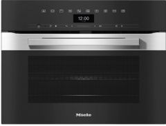 Miele H7440BMCLST Compact Microwave Combination Oven With A Seamless Design - Clean Steel