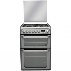 Hotpoint HUD61GS 60cm Dual Fuel Cooker - Graphite