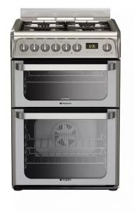 Hotpoint HUD61XS 60cm Dual Fuel Cooker - Stainless Steel
