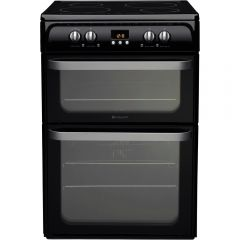 Hotpoint HUI614K 60cm Electric Cooker With Induction Hob - Black