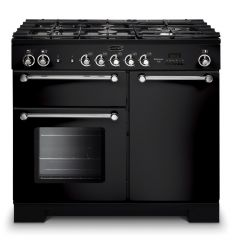 Rangemaster KCH100DFFBL/C Kitchener 100cm Dual Fuel Range Cooker Black *Display Stock*