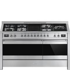 Smeg A5-81 Dual Fuel Range Cooker-Stainless Steel