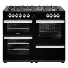 Belling Cookcentre 110DFTBLK 110cm Dual Fuel Range Cooker-Black