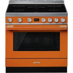 Smeg CPF9IPOR Portofino 90cm Induction Cooker-Orange