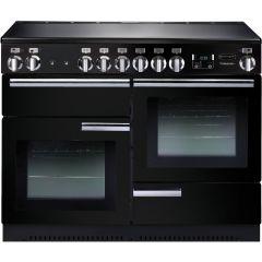 Rangemaster PROP110ECGB Professional +  Electric Ceramic Range Cooker - Black & Chrome
