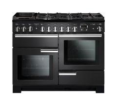 Rangemaster PDL110DFFCB/C Professional Deluxe 110cm Dual Fuel Range Cooker Charcoal Black