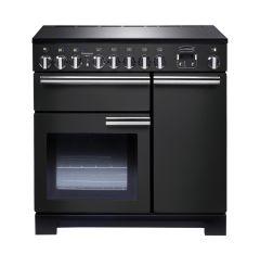 Rangemaster PDL90EICB/C Professional Deluxe 90cm Electric Induction Range Cooler Charcoal Black