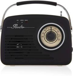 Akai A60014V Am/Fm Vintage Retro Radio-Black