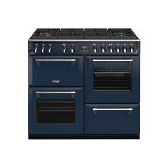 Stoves RCHDXS1000DFGTGCBMBL Richmond Deluxe 444410947 Gtg 100Cm Dual Fuel Range Cooker - Midnight Blue
