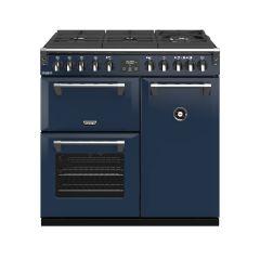 Stoves RCHDXS900DFGTGCBMBL Richmond Deluxe 444410911 GTG 90cm Dual Fuel Range Cooker - Midnight Blue