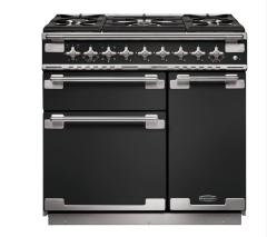 Rangemaster ELS90DFFCB/ Elise 90cm Dual Fuel Range Cooker Charcoal Black