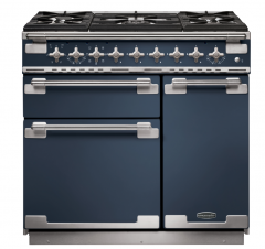 Rangemaster ELS90DFFSB/ Elise 90cm Dual Fuel Range Cooker Stone Blue