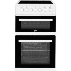 Beko EDVC503W 50cm Double Oven Electric Cooker - White