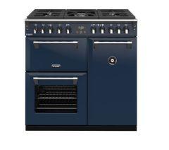 Stoves RCHDXS900DFCBMBL Richmond Deluxe 444410902 90cm Dual Fuel Range Cooker - Midnight Blue