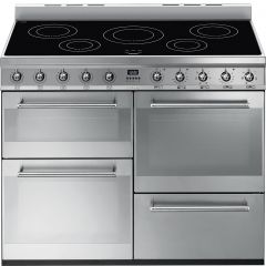 Smeg SYD4110I 110cm Symphony Range Cooker with Induction Hob-Stainless Steel