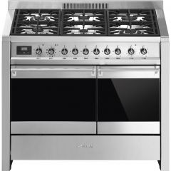 Smeg A2PY-81 100Cm Dual Fuel Range Cooker - Stainless Steel